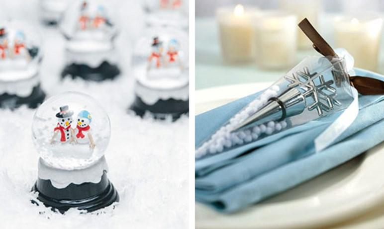 Подарки гостям на свадьбе зимой
