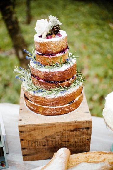 торт в стиле рустик 3